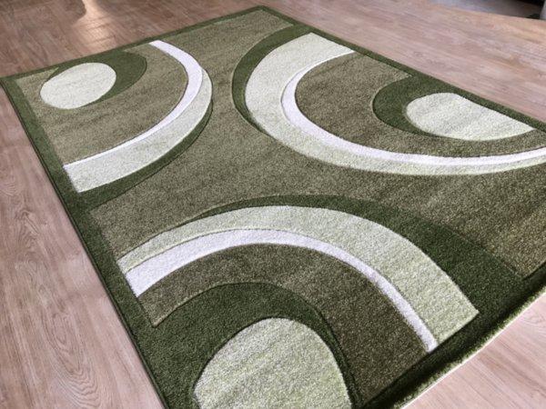 релефен килим съни   8017 зелен